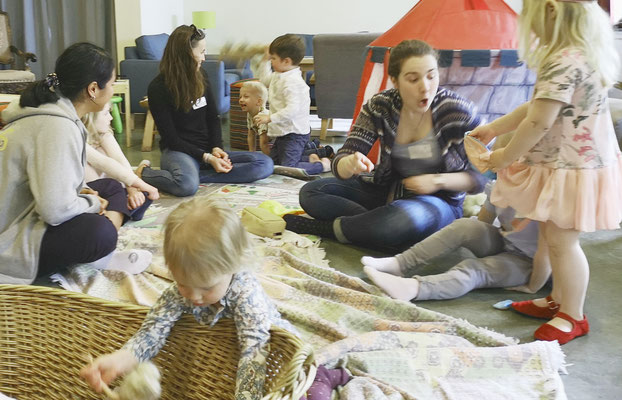 Arbeit mit den Kindern am Familientag