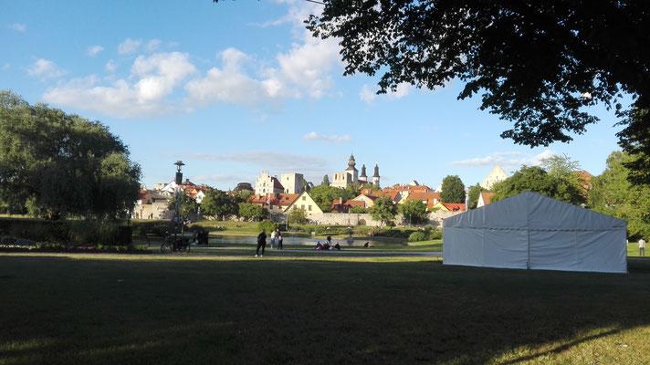 Die Stadt Visby auf der Insel Gotland