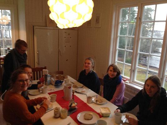 Gemütliches Frühstück in Marieudd