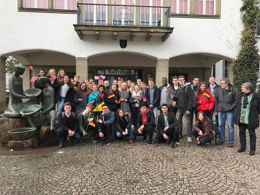 Die Austauschgruppen in Attendorn