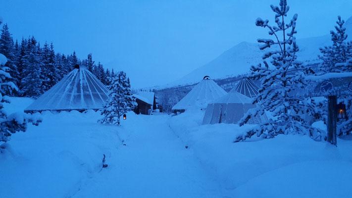 So viel Schnee in Tromsø.
