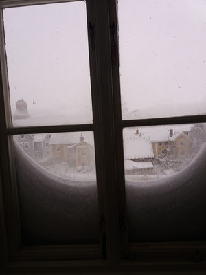 Ausblick aus Liobas Fenster in Vadstena