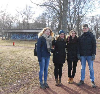 Maris Lohmöller, Anna Nick, Matea Renic und Marcel Fischer