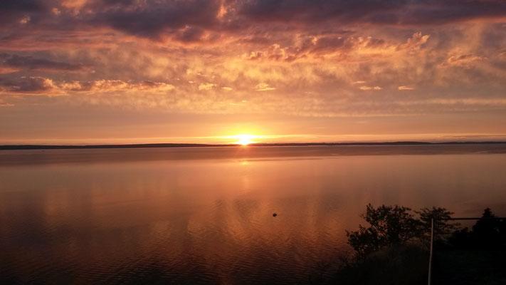 Sonnenuntergang am Vätternsee bei Vadstena
