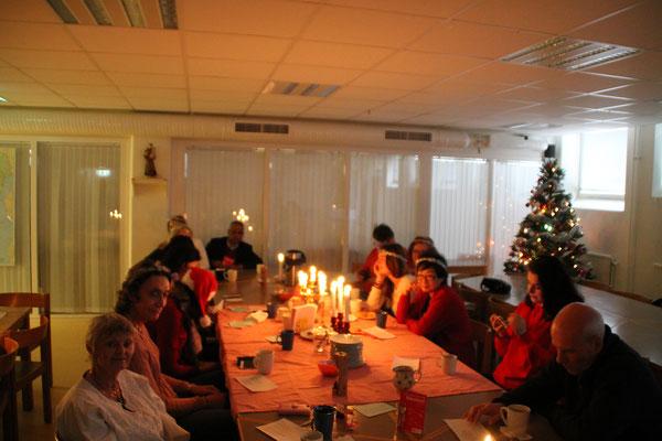 Lucia-Feier bei der Caritas