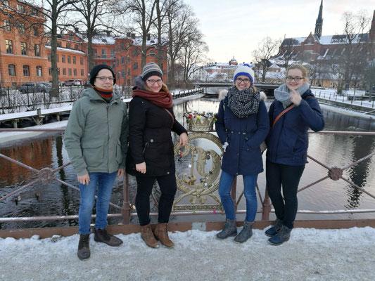 Marius Retka, Anna Nick, Magdalena Kollbeck und Maria Korten in Uppsala