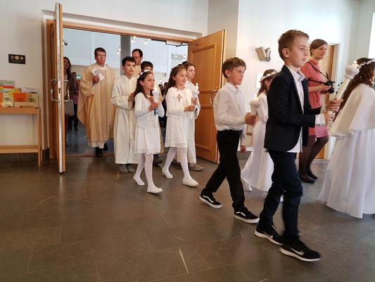 Erstkommunion in S:t Lars in Uppsala