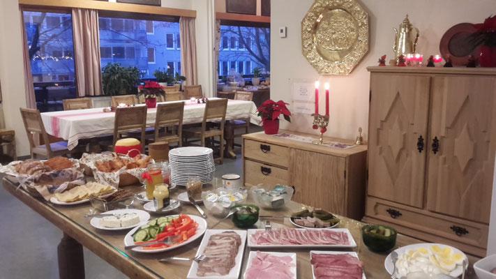 Das Weihnachtsbuffet.