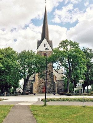 Die skedsmokorset Kirche.