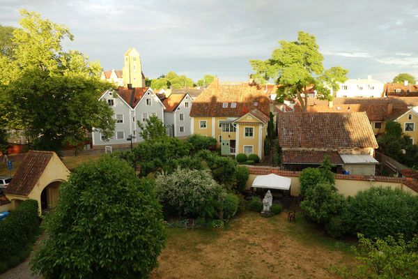 Blick aus dem Gästeheim auf Vadstena