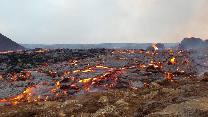 Lava aus der Nähe
