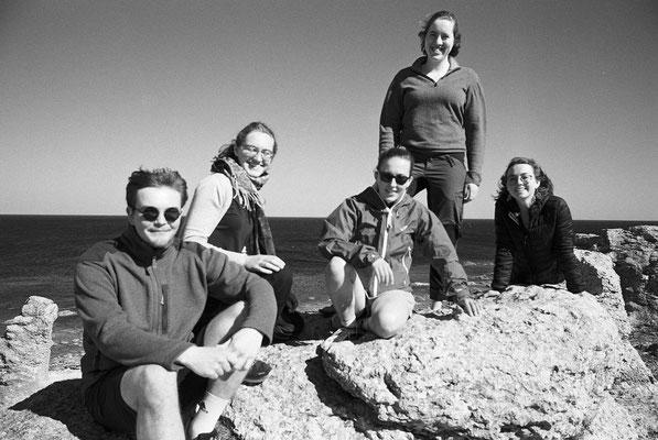 Konrad, Sonja, Hannah, Ricarda und Clarita auf Fårö (Gotland)