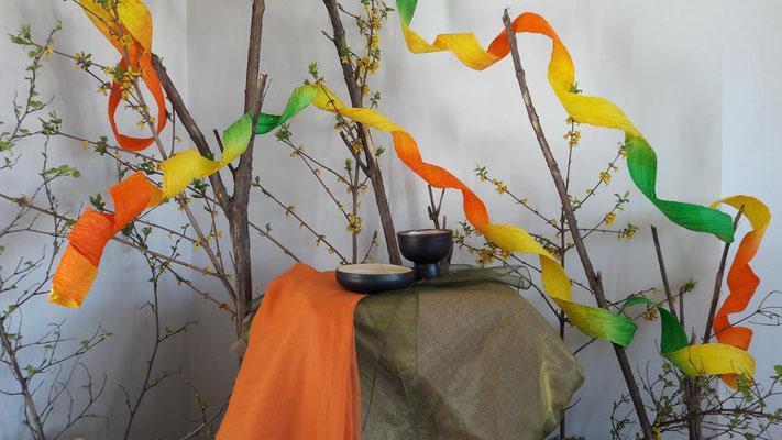 Seitenaltar zu Ostern bei den Dominikanerinnen in Riga