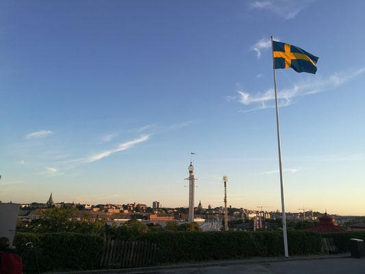 Diese Aussicht über Stockholm hat man von Skansen aus