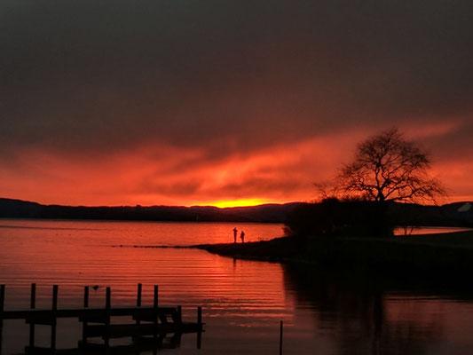 Sonnenuntergang in Oslo