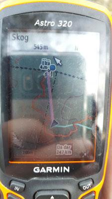 Der Blick auf´s GPS-Gerät