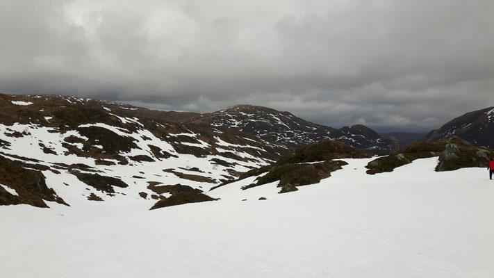 Auf dem Gullsfjell war noch Winter