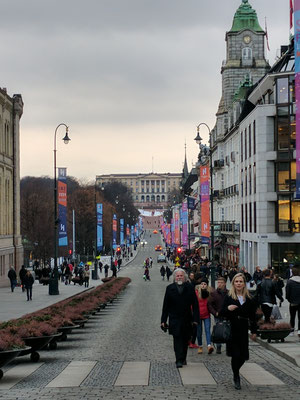 Die Karl-Johans-Gate in Oslo
