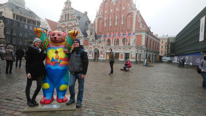 Lara und Markus in Riga