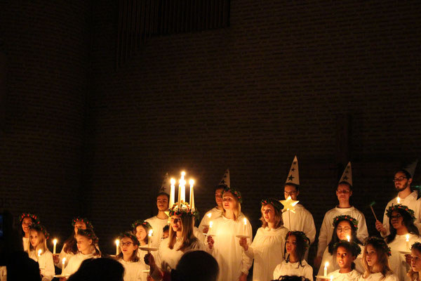 Lucia-Feier in St.Eugenia