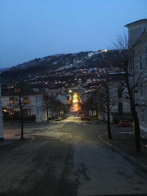Abenddämmerung in Bergen