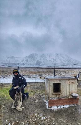 Ein Husky-Besuch durfte auf Spitzbergen auch nicht fehlen (Foto: Jonas Selter)