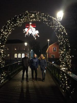 Uppsala bei Nacht