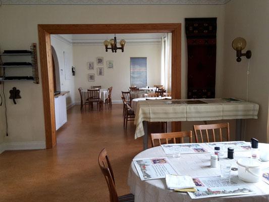 Der Speisesaal des Gästehauses.