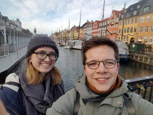 Magdalena Kollbeck und Marius Retka bei einem Zwischenstopp in Kopenhagen
