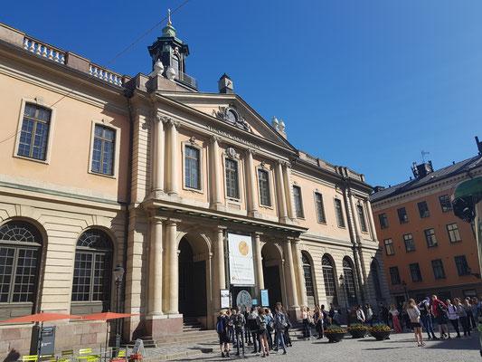 Das Gebäude der schwedischen Akademie in Stockholm