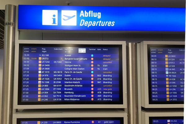 Der Flug nach Stockholm ist annulliert...