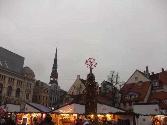 Angekommen in Riga, hier auf dem Weihnachtsmarkt in der Altstadt