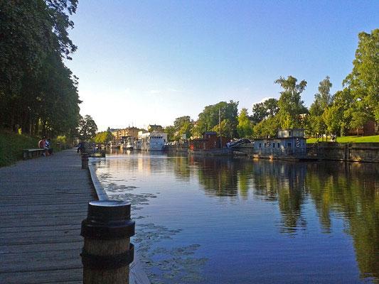 Der Fyrisån, der Fluss, der durch Uppsala fließt.