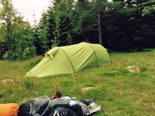 Das Lager der ersten Nacht.