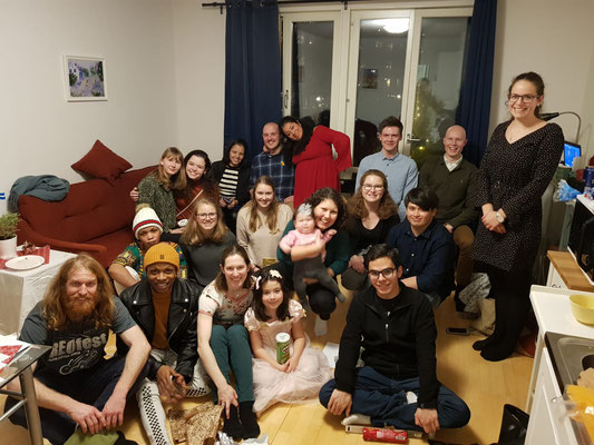 Weihnachtsfeier mit der Studentengruppe