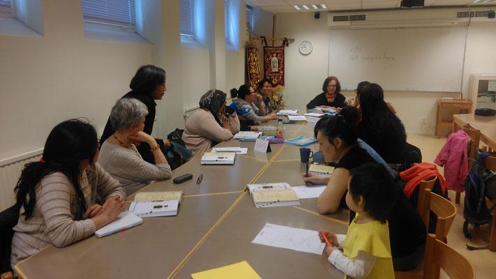 Sprachunterricht bei der Caritas