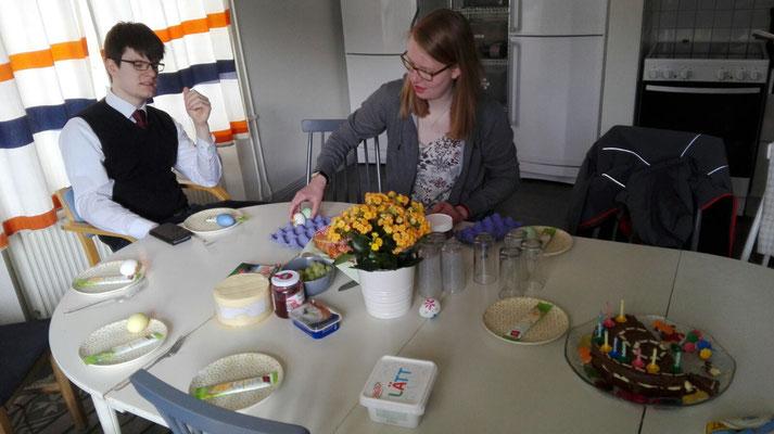 Marcel Fischer und Anne Hemken feiern Ostern in Uppsala