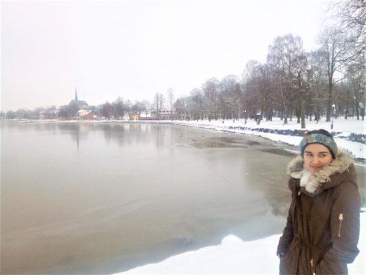 Lioba Dietz am Vätternsee in Vadstena