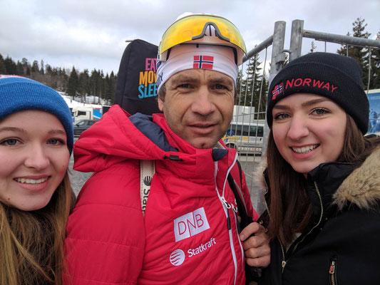 Annika Reiss, Ole Einar Bjørndalen und Rebecca Kronseder