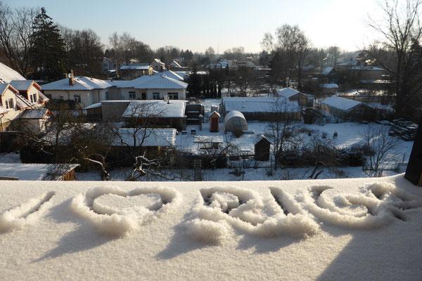 Gretas Blick aus ihren Zimmer im Kloster der Dominikanerinnen: Riga ist zu einer Heimat geworden