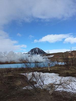 Ein heißer See in der Region Mývatn