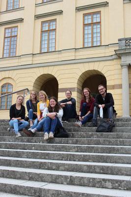 Anfangswochenende der Praktikant*innen aus Schweden, Besuch in Drottningholm
