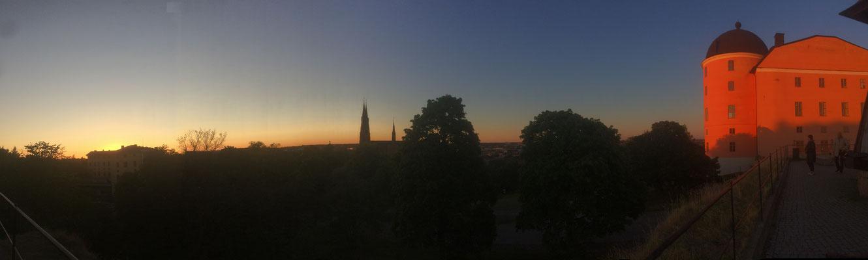 Sonnenuntergang in Uppsala