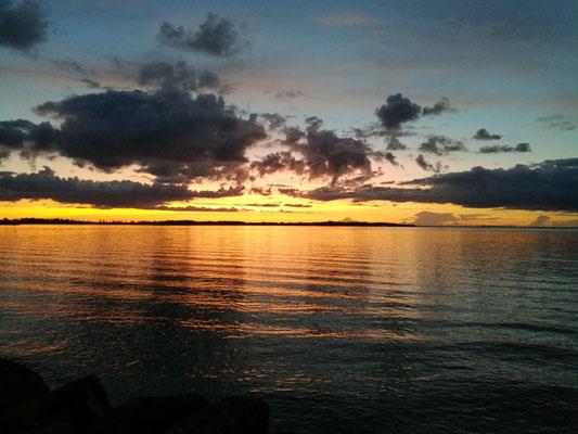 Sonnenuntergang in Vadstena