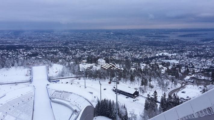 Blick von Oslos-skischanze aus.