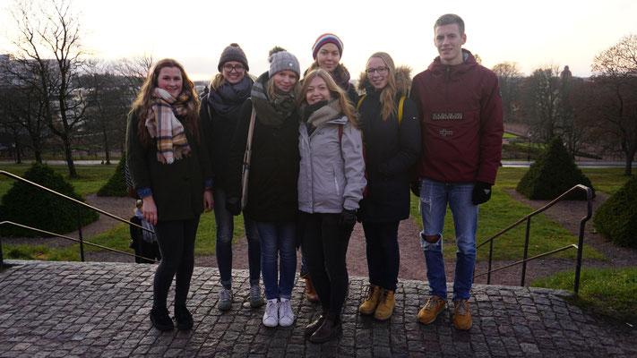 Miriam Schmelz, Magdalena Kollbeck, Elisabeth Schwake, Pia Wittek, Greta Hartmann, Josephine Metasch und Tobias Hövener in Uppsala