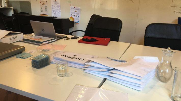 Arbeit im Büro von DUK