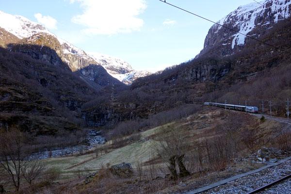 Die Flambahn, eine der spektakulärsten und interessantesten Eisenbahnstrecken in Norwegen,