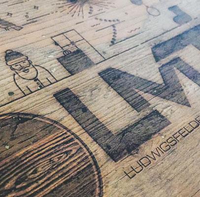 Erstellung von Holzdruck für LMT Küchen