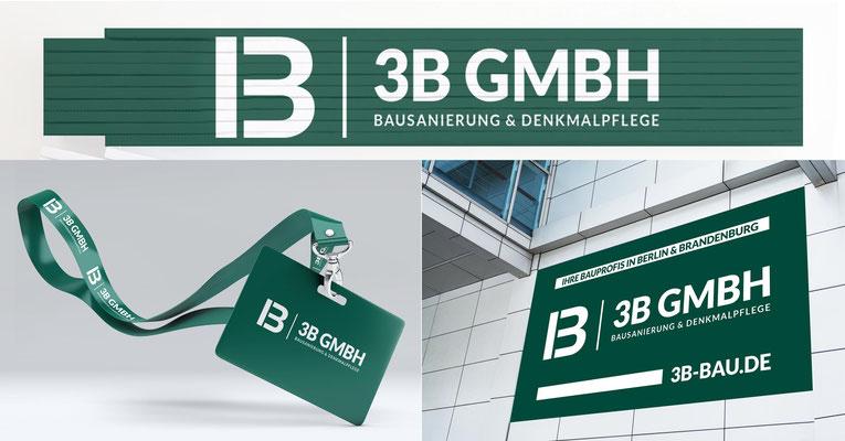 Erstellung von bedruckten Zollstöcken, Umhängebändern mit Plastikkarten und Aufklebern in DIN A0 für die 3B GmbH